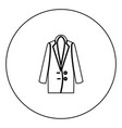 woman overcoat black icon in circle outline vector image vector image