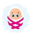 Newborn little baby girl Cute Cartoon Baby girl vector image
