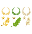 Golden And Green Elements Set vector image