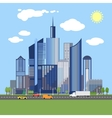 Stylish architecture design of modern city vector image