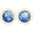 clock as globe vector image
