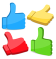 3D Thumbs Up Icons vector image vector image