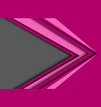 abstract pink arrow speed gray black space vector image vector image