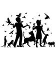 Animal children vector image