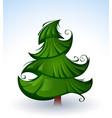 artistic green christmas tree vector image