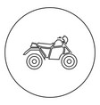 atv motorcycle on four wheels black icon in vector image