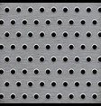 background pattern wholes in grey metal vector image