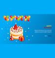 birthday cake poster vector image