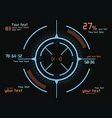 Blue and orange infographics vector image