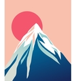 Blue mountain with snowy peak Sun vector image vector image