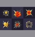 bomb explosion design concept vector image
