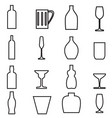 Bottle and Glass1 vector image vector image