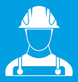 builder icon white vector image vector image