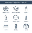 candle icons vector image vector image