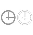 clock it is black icon vector image vector image