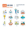 color icons corporate development teamwork vector image