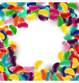 colorful candy background with jelly beans vector image vector image
