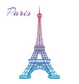 colorful eiffel tower on white backgound vector image vector image