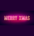 colorful merry christmas neon sign banner vector image vector image
