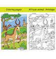 coloring and color antelope