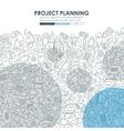 construction Doodle Website Template Design vector image