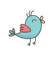 cute blue bird isolated element flying bird vector image vector image