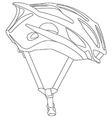 Cycle helmet vector image vector image