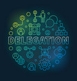 delegation round colored thin line vector image
