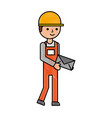 delivery man standing and holding envelope courier vector image vector image