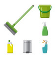 design cleaning and service logo vector image vector image