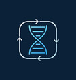 dna inside arrows concept colored outline vector image vector image