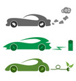 electric and petrol automobiles vector image vector image