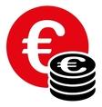 Euro coin stack icon vector image vector image