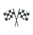 Finishing flags flat icon vector image vector image
