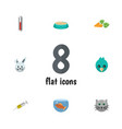 flat icon pets set of sparrow vaccine root vector image vector image