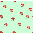 Flower red seamless pattern vector image