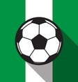 football icon with Nigeria flag vector image vector image