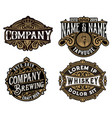 four old logos for packing vector image vector image