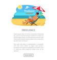 freelance summer poster with push button read more vector image vector image