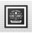 Friendship quote Typographical Poster vector image