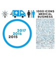 From 2016 to 2017 Years Icon with 1000 Medical vector image vector image