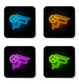 glowing neon security camera with screwdriver and vector image vector image
