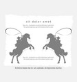grey vintage background with rodeo man vector image vector image