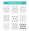 Hand drawn black and white pattern simple style vector image vector image