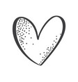 hand drawn scandinavian velentines day heart with vector image vector image