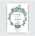 hand drawn wedding eucalyptus vector image