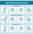 hands disinfection instruction clean hand vector image vector image