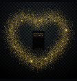 heart design made with golden glitter vector image vector image