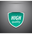 High quality tag vector image vector image