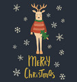 holly jolly deer vector image